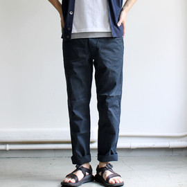 A VONTADE - Classic Chino Trousers Slim Cropped -Selvdge Twill-