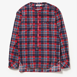 nonnative - LABOURER SHIRT COTTON NEL CHECK