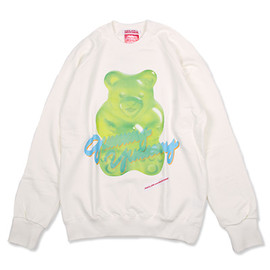 """PEACE LOVE and UNDERSTANDING - 【PEACE, LOVE and UNDERSTANDING】グラフィックプリントスウェット""""BEAR GUMMY""""/WHITE×GREEN"""