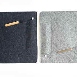 byrd & belle - iPad Pro Sleeve with Pockets - Felt