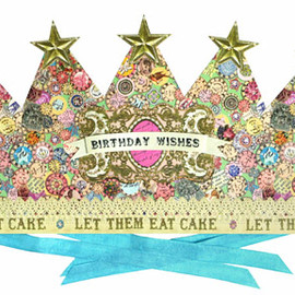 "kino - BIRTHDAY WISHES CROWN ""EAT CAKE"""