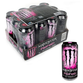 MONSTER ENERGY - Monster Rehab Pink Lemonade 16 oz.