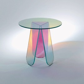 "Patricia Urquiola - ""Shimmer"" iridescent glass table, for Glas Italia"