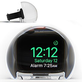 NightWatch - Magnifying Clock Dock for Apple Watch - Clear