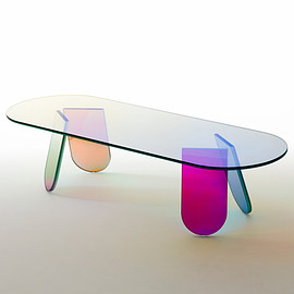 Glas Italia - Shimmer low table by Patricia Urquiola