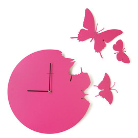 DIAMANTINI & DOMENICONI - BUTTERFLY CLOCK -pink-