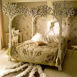 the Apple Tree canopy bed.