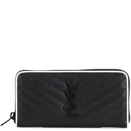 SAINT LAURENT - Monogram leather wallet