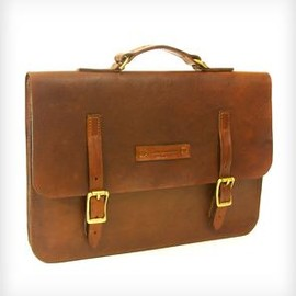 RED CLOUDS COLLECTIVE - Classic Leather Briefcase