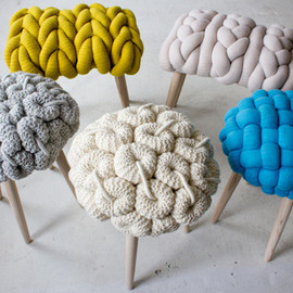 Claire-Anne O'Brien - knit stools