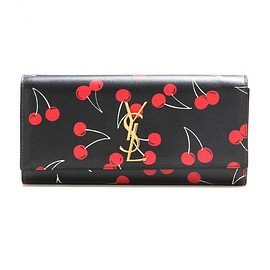 SAINT LAURENT - SS2015 MONOGRAMME CHERRY PRINTED LEATHER CLUTCH