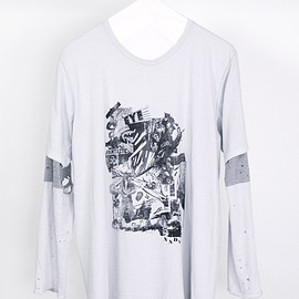 NADA. - Layer iong tee / Light gray