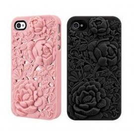 hallomall, ohneed - Silicone Rose Embossing Case for iPhone 4/4S
