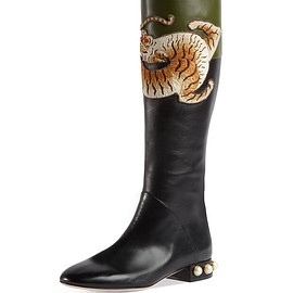 GUCCI - Pre-Fall 2017 Pam Tiger-Embroidered Tall Boot
