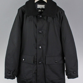 "General Research - DOWN COAT  ""KNIT COLLAR"", 2-RAYERED STRETCH"