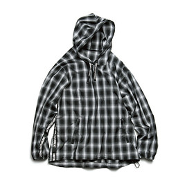 uniform experiment - TAPE LINE ANORAK SHIRT