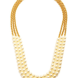 CHANEL - Vintage Chanel Three Strand Pearl Necklace