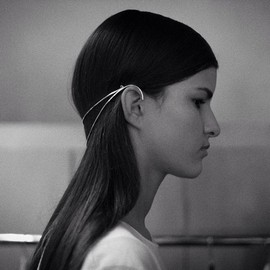 Dion Lee - Sarah Sebastian for Dion Lee sterling silver headpiece