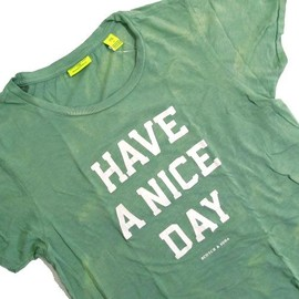 """SCOTCH&SODA - sc51143-31 """"HAVE A NICE DAY"""" Beach Bleached S/S Tee"""