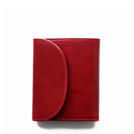 Whitehouse Cox - S1058 SMALL 3FOLD WALLET/Red×Natural Vintage Bridle