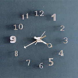 Roost - Numero Wall Clock