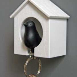 Rockett St George - Black Bird Keyring and House Set