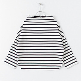 URBAN RESEARCH ROSSO - BOTTLE NECK BORDER PULLOVER