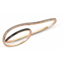 Fiya Bijoux - Double Ring Black Diamonds
