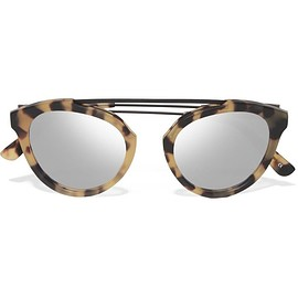 Westward Leaning - Flower 1 aviator-style matte-acetate and metal mirrored sunglasses