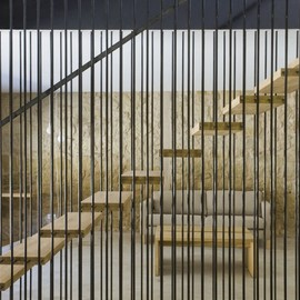 Blur Arquitectura - stairs at Country House, El Cobijo-San Vicente De La Sonsierra, Spain