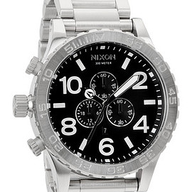 NIXON - 51-30 CHRONO BLACK メンズ