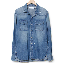 nonnative - LOGGER SHIRT - COTTON 6.5oz DENIM VW