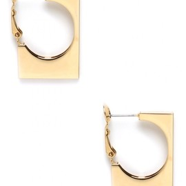 Adia Kibur - Gold Square Hoops