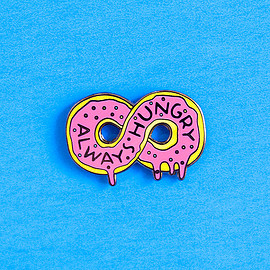 dannybrito - always hungry doughnut pin