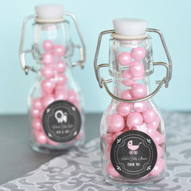 Event Blossom® - Chalkboard Baby Shower Personalized Mini Glass Bottles