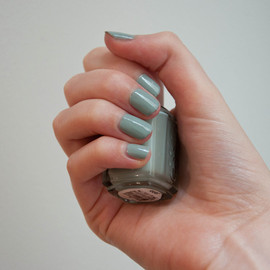 essie - grey-green nail color (Maximillian Strasse Her)