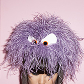 Piers Atkinson - LILAC OSTRICH FELT BASE WITH EYES/PURPLE