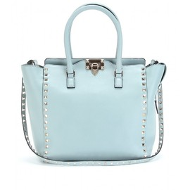 VALENTINO - ROCKSTUD SMALL LEATHER TOTE
