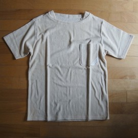 "PHINGERIN - PILE KNIT POCKET TEE ""NATURAL"""