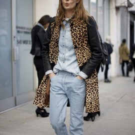 Denim, leopard, leather/style