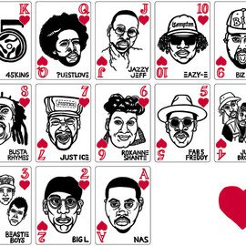 mynorityclassics - HIP-HOP-PLAYING-CARDS EARRINGS