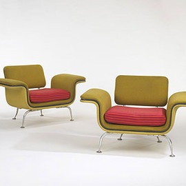 Herman Miller for Braniff Airlines, Alexander Girard - Lounge chairs model #66301