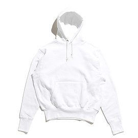 CAMBER - Cross Knit Pullover Hooded Parka-White
