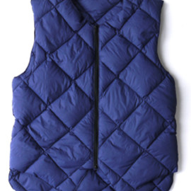 Engineered Garments - Tailored Down Vest Blue Lt.Weight Nylon
