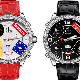 Supreme, Jacob & Co. - Time Zone 40mm and 47mm Watches