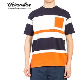 White Mountaineering - WHITE MOUNTAINEERING T-shirt (WM1771507) Navy/Orange