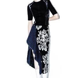 3.1 Phillip Lim - Floral skirt with flare ruffle