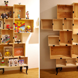 / - stor Shelving Units Upcycled From Wine Boxes