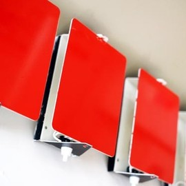 Charlotte Perriand - Wall Lamps, with Red Cover