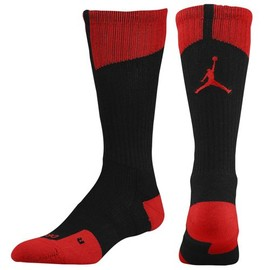 JORDAN - AJ Dri-Fit Crew Socks(Black/Gym Red)